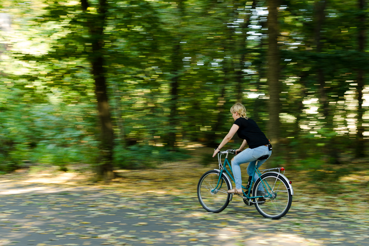 Panning - Jenny auf dem Fahrrad 2